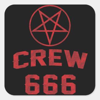 Pentagram del equipo 666 pegatina cuadrada