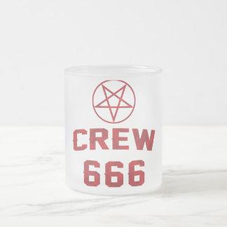 Pentagram del equipo 666 taza cristal mate