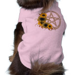 Pentagram del girasol camisa de mascota