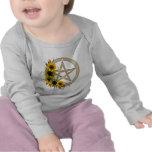 Pentagram del girasol camisetas