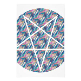 pentagram del holograma papeleria de diseño