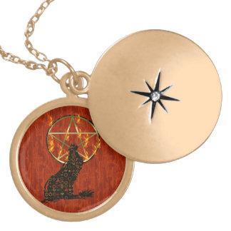 Pentagram del lobo pendientes