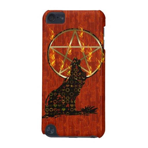 Pentagram del lobo funda para iPod touch 5G