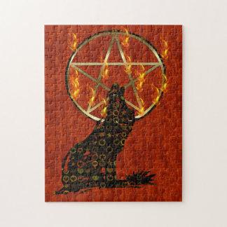Pentagram del lobo puzzles con fotos