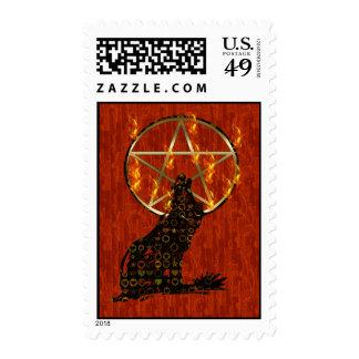 Pentagram del lobo sellos