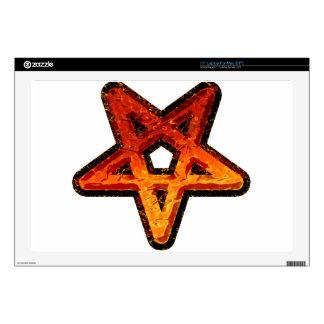Pentagram del metal calcomanías para portátiles