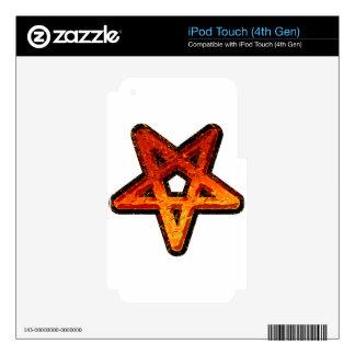 Pentagram del metal iPod touch 4G calcomanías