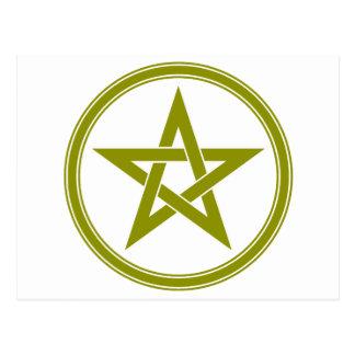 Pentagram del pentáculo de Brown Postales