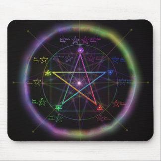 "Pentagram del ""poder elemental"" tapetes de ratón"