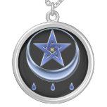 Pentagram del símbolo de la bendición colgante redondo