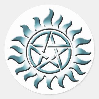 Pentagram del trullo etiquetas