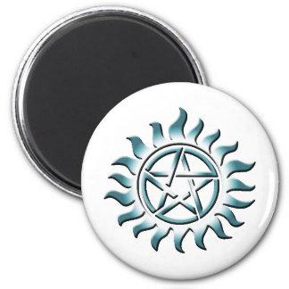 Pentagram del trullo iman de frigorífico
