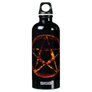 Pentagram Design Custom Traveller (0.6L), Black Aluminum Water Bottle