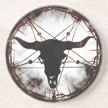 Halloween Themed Pentagram Drink Coaster