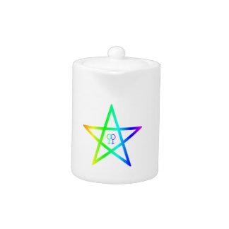 Pentagram femenino homosexual del arco iris