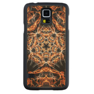 Pentagram Fire Carved® Maple Galaxy S5 Slim Case