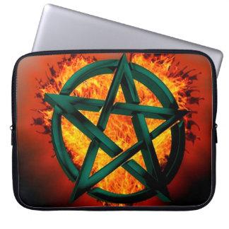Pentagram Fire Computer Sleeve