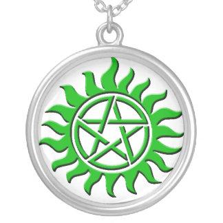 pentagram green jewelry