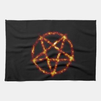 pentagram hand towel