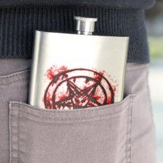 pentagram hip flask at Zazzle