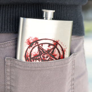 pentagram hip flask