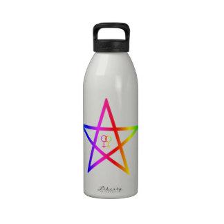 Pentagram homosexual femenino del arco iris