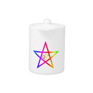 Pentagram homosexual masculino 2 del arco iris