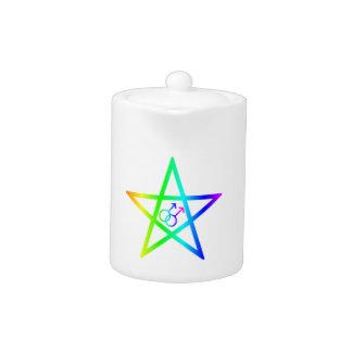 Pentagram homosexual masculino del arco iris