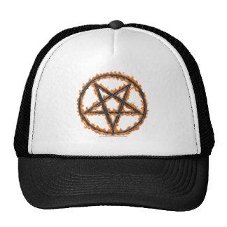Pentagram invertido ardiendo gorras de camionero