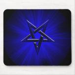 Pentagram invertido azul siniestro tapete de ratones