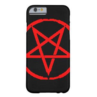 Pentagram invertido funda de iPhone 6 barely there