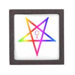 Pentagram invertido hembra #3 del arco iris