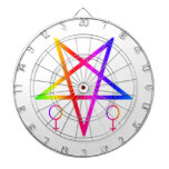 Pentagram invertido hembra #4 del arco iris