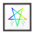 Pentagram invertido hembra del arco iris
