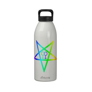 Pentagram invertido hembra homosexual del arco iri