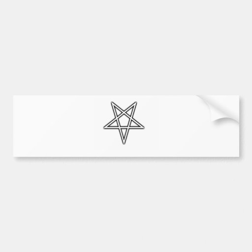 Pentagram invertido pegatina para auto