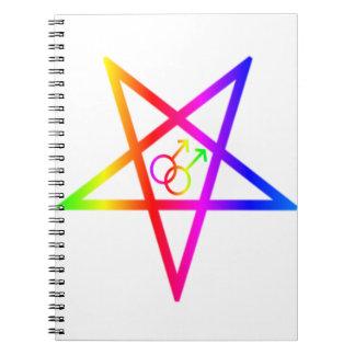 Pentagram invertido varón homosexual del arco iris