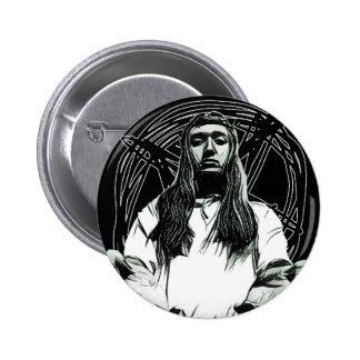 Pentagram Jesus Button
