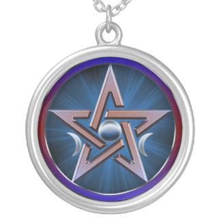 Pentagram lunar de la diosa collares