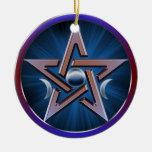 Pentagram lunar de la diosa ornamentos para reyes magos