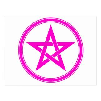 Pentagram magenta del pentáculo postal