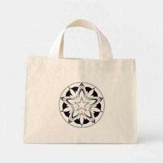Pentagram Mandala for Coloring V.1 Mini Tote Bag