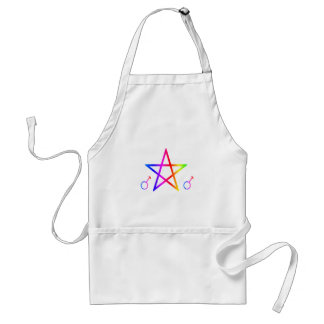 Pentagram masculino vertical del arco iris