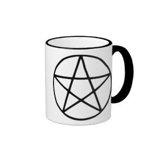 Pentagram negro taza de café