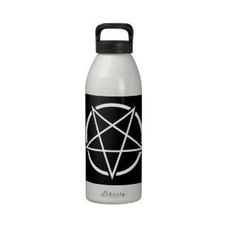 Pentagram No 1 blanco Botella De Agua Reutilizable