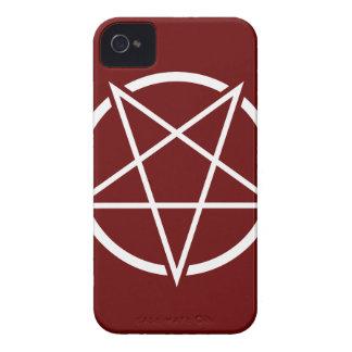 Pentagram No.1 (blanco) iPhone 4 Case-Mate Fundas