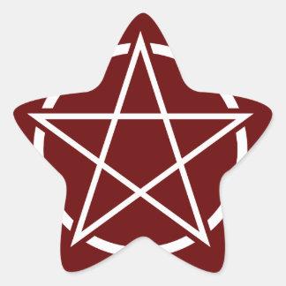 Pentagram No.1 (blanco) Pegatina En Forma De Estrella