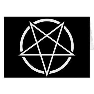Pentagram No.1 (blanco) Tarjetas