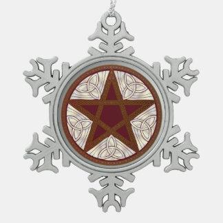 Pentagram, nudo Tri-Quatra, céltico - copo de Adorno De Peltre En Forma De Copo De Nieve