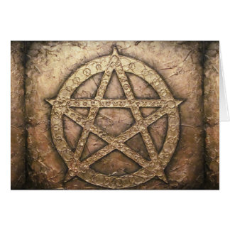 Pentagram of protections card